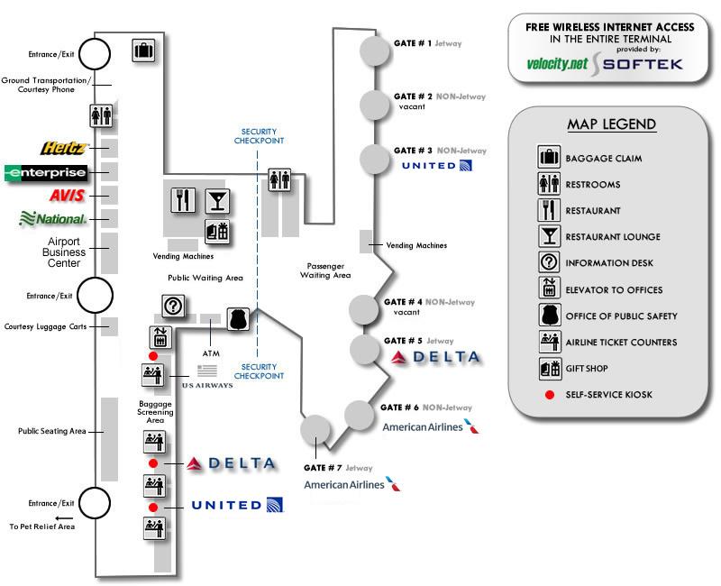 Airport Maps - Erie International Airport